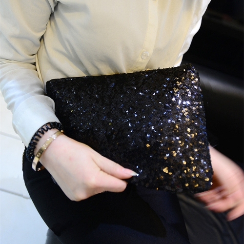 Fashion Women Clutch Bag Dazzling Sequins Glitter Sparkling Handbag Evening Party Bag BlackApparel &amp; Jewelry<br>Fashion Women Clutch Bag Dazzling Sequins Glitter Sparkling Handbag Evening Party Bag Black<br>
