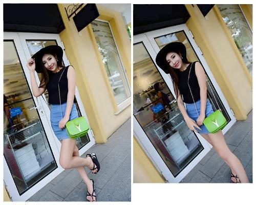 New Fashion Women Chain Bag PU Leather Candy Color Mini Crossbody Shoulder Bag GreenApparel &amp; Jewelry<br>New Fashion Women Chain Bag PU Leather Candy Color Mini Crossbody Shoulder Bag Green<br>