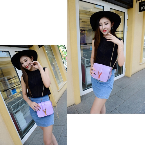 New Fashion Women Chain Bag PU Leather Candy Color Mini Crossbody Shoulder Bag PurpleApparel &amp; Jewelry<br>New Fashion Women Chain Bag PU Leather Candy Color Mini Crossbody Shoulder Bag Purple<br>