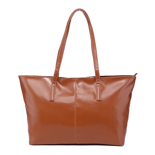 New Fashion Women PU Leather Handbag Candy Color Tote Shoulder Bag BrownApparel &amp; Jewelry<br>New Fashion Women PU Leather Handbag Candy Color Tote Shoulder Bag Brown<br>