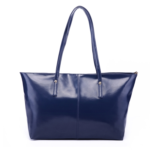 New Fashion Women PU Leather Handbag Candy Color Tote Shoulder Bag Dark BlueApparel &amp; Jewelry<br>New Fashion Women PU Leather Handbag Candy Color Tote Shoulder Bag Dark Blue<br>