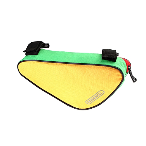 Roswheel Triangle Cycling Bicycle Front Tube Frame Bag Outdoor Mountain Bike Pouch 1.5L Yellow &amp; Green 12657Sports &amp; Outdoor<br>Roswheel Triangle Cycling Bicycle Front Tube Frame Bag Outdoor Mountain Bike Pouch 1.5L Yellow &amp; Green 12657<br>