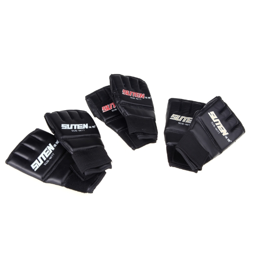 PU Leather Half Mitts Mitten MMA Muay Thai Training Punching Sparring Boxing Gloves GoldenSports &amp; Outdoor<br>PU Leather Half Mitts Mitten MMA Muay Thai Training Punching Sparring Boxing Gloves Golden<br>