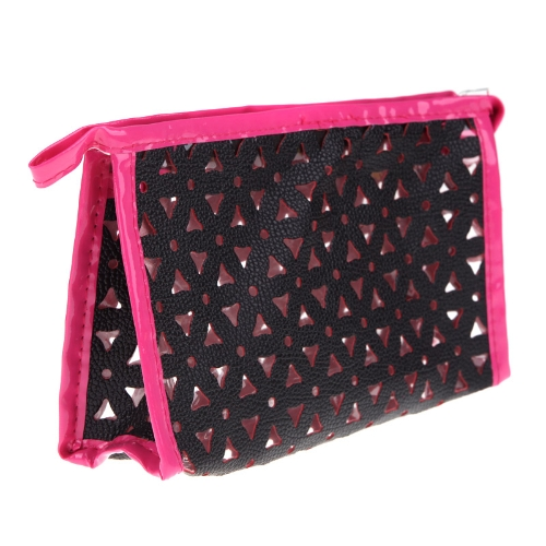 Cosmetic Make Up Wash Bag Bath Translucent Container Pouch Handbag  BlackApparel &amp; Jewelry<br>Cosmetic Make Up Wash Bag Bath Translucent Container Pouch Handbag  Black<br>