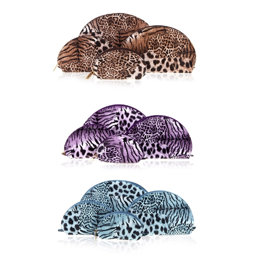 4 Pcs Set Cosmetic Bags Multifunction Make Up Cases Leopard Shell Shape BlueApparel &amp; Jewelry<br>4 Pcs Set Cosmetic Bags Multifunction Make Up Cases Leopard Shell Shape Blue<br>