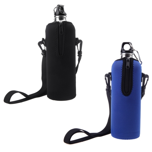 1000ML Bottle Insulator Outdoor Zipper Removable Straps Neoprene BlueSports &amp; Outdoor<br>1000ML Bottle Insulator Outdoor Zipper Removable Straps Neoprene Blue<br>