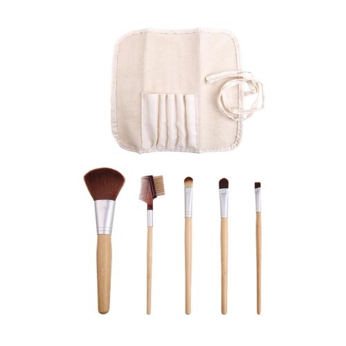 Bamboo Makeup Brush Set Cosmetics Brushes Kit 5 + 1 BagHealth &amp; Beauty<br>Bamboo Makeup Brush Set Cosmetics Brushes Kit 5 + 1 Bag<br>