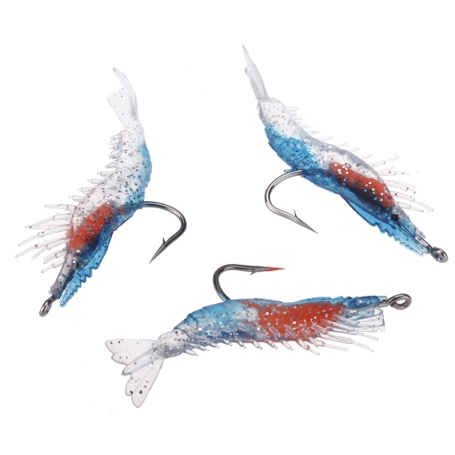 3Pcs 6cm/3g Artificial Fishing Lure Bionic Shrimp Prawn Soft Bait Fishing Tackle Noctilucent Luminous Lifelike with HookSports &amp; Outdoor<br>3Pcs 6cm/3g Artificial Fishing Lure Bionic Shrimp Prawn Soft Bait Fishing Tackle Noctilucent Luminous Lifelike with Hook<br>