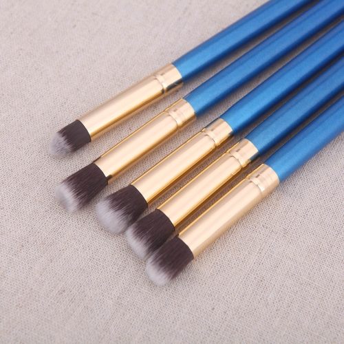 10Pcs Wood Makeup Brush Kit Professional Cosmetic Set Silver Ferrule BlueHealth &amp; Beauty<br>10Pcs Wood Makeup Brush Kit Professional Cosmetic Set Silver Ferrule Blue<br>