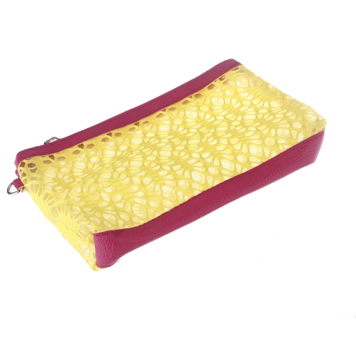 Cosmetic Hollow Make Up Container Pouch Handbag Sunbag YellowApparel &amp; Jewelry<br>Cosmetic Hollow Make Up Container Pouch Handbag Sunbag Yellow<br>