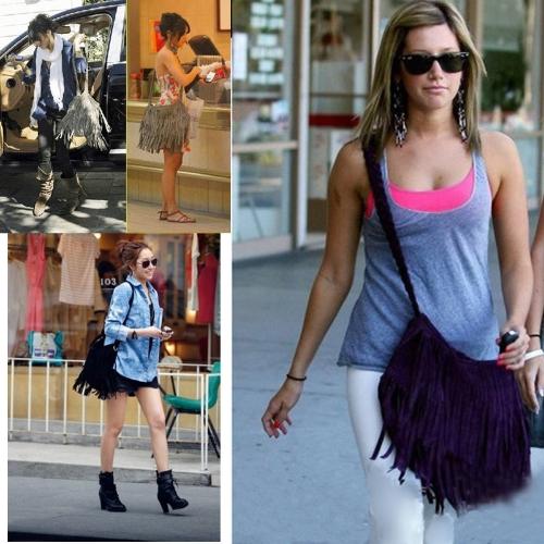 Fashion Women Fringe Tassel Shoulder Bag Cross-body Bag Messenger Handbag PurpleApparel &amp; Jewelry<br>Fashion Women Fringe Tassel Shoulder Bag Cross-body Bag Messenger Handbag Purple<br>