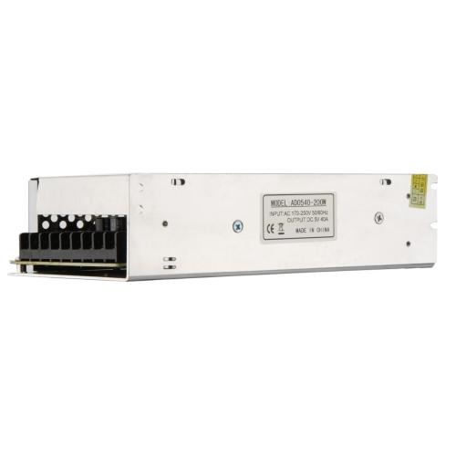 AC 170V?250V to DC 5V 40A 200W Voltage Transformer Switch Power Supply for Led StripHome &amp; Garden<br>AC 170V?250V to DC 5V 40A 200W Voltage Transformer Switch Power Supply for Led Strip<br>