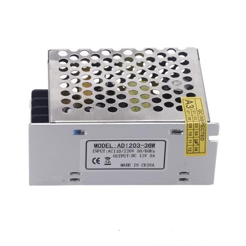 AC 100V?240V to DC 12V 3A 36W Voltage Transformer Switch Power Supply for Led StripHome &amp; Garden<br>AC 100V?240V to DC 12V 3A 36W Voltage Transformer Switch Power Supply for Led Strip<br>