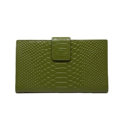 Fashion Women Genuine Leather Purse Crocodile Pattern Candy Color Clutch Bag Wallet GreenApparel &amp; Jewelry<br>Fashion Women Genuine Leather Purse Crocodile Pattern Candy Color Clutch Bag Wallet Green<br>