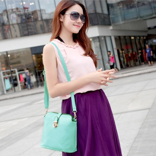 New Fashion Women Shoulder Bags PU Leather Candy Color Crossbody Bags GreenApparel &amp; Jewelry<br>New Fashion Women Shoulder Bags PU Leather Candy Color Crossbody Bags Green<br>