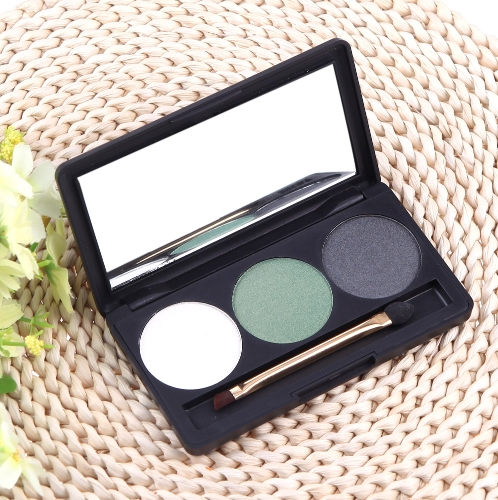 Professional 3 Color Matte Nude Makeup Eyeshadow Palette Eye Shadow with Mirror and Double Ended Brush 3#Health &amp; Beauty<br>Professional 3 Color Matte Nude Makeup Eyeshadow Palette Eye Shadow with Mirror and Double Ended Brush 3#<br>