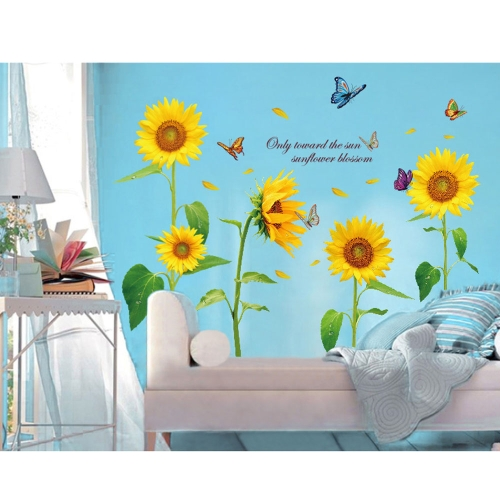 Sunshine Sunflower Butterfly Dancing in Summer Beautiful  Removable Wall Stickers DIY Kids Child Room Decor DecalHome &amp; Garden<br>Sunshine Sunflower Butterfly Dancing in Summer Beautiful  Removable Wall Stickers DIY Kids Child Room Decor Decal<br>