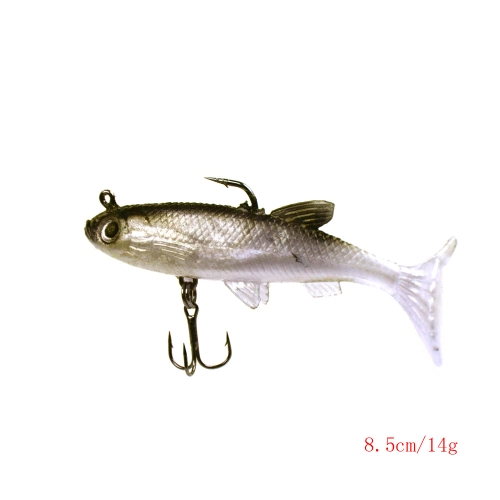 5Pcs 8.5cm 14g Soft Bait Lead Head Fish Lures Bass Fishing Tackle Sharp Hook T TailSports &amp; Outdoor<br>5Pcs 8.5cm 14g Soft Bait Lead Head Fish Lures Bass Fishing Tackle Sharp Hook T Tail<br>