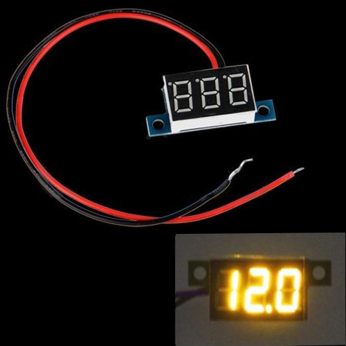 Mini 2 Wires DC 3.3-30V LED Panel Digital Display Voltage Meter Voltmeter Yellow LightTest Equipment &amp; Tools<br>Mini 2 Wires DC 3.3-30V LED Panel Digital Display Voltage Meter Voltmeter Yellow Light<br>