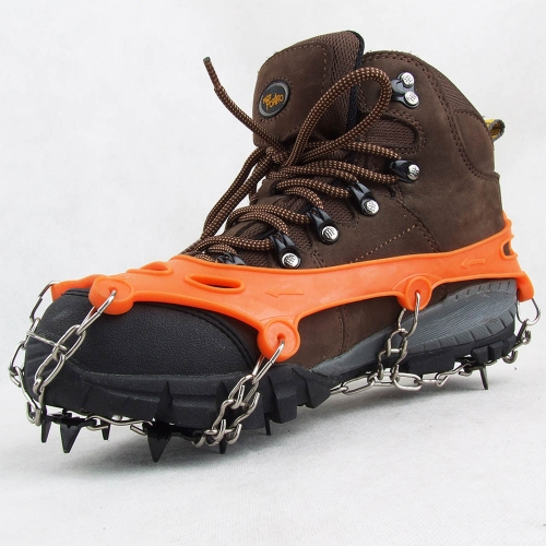 1 Pair 11 Teeth Claws Crampons Non-slip Shoes Cover Stainless Steel Chain Outdoor Ski Ice Snow Hiking ClimbingSports &amp; Outdoor<br>1 Pair 11 Teeth Claws Crampons Non-slip Shoes Cover Stainless Steel Chain Outdoor Ski Ice Snow Hiking Climbing<br>