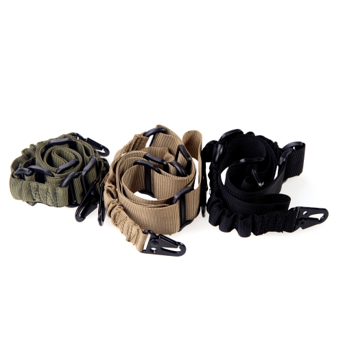 Adjustable 2 Dual-Point Mission Bungee Elastic Tactical Sling for Rifle BlackSports &amp; Outdoor<br>Adjustable 2 Dual-Point Mission Bungee Elastic Tactical Sling for Rifle Black<br>
