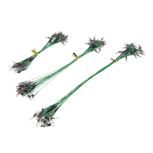 72pcs Green Fishing Lure Line Trace Wire Leader Swivel Tackle Spinner Shark Spinning 15/20/28cmSports &amp; Outdoor<br>72pcs Green Fishing Lure Line Trace Wire Leader Swivel Tackle Spinner Shark Spinning 15/20/28cm<br>