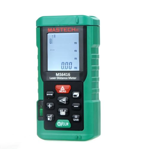 Original MASTECH MS6416 60m Laser Distance Meter Rangefinder Tape Measure Level ToolTest Equipment &amp; Tools<br>Original MASTECH MS6416 60m Laser Distance Meter Rangefinder Tape Measure Level Tool<br>