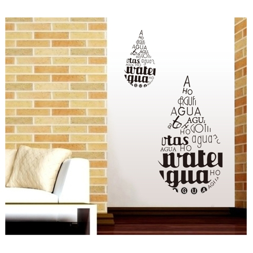 Water-drop English Letter Removable Wall Stickers Art Decals Mural DIY Wallpaper for Room Decal 50 * 70cmHome &amp; Garden<br>Water-drop English Letter Removable Wall Stickers Art Decals Mural DIY Wallpaper for Room Decal 50 * 70cm<br>