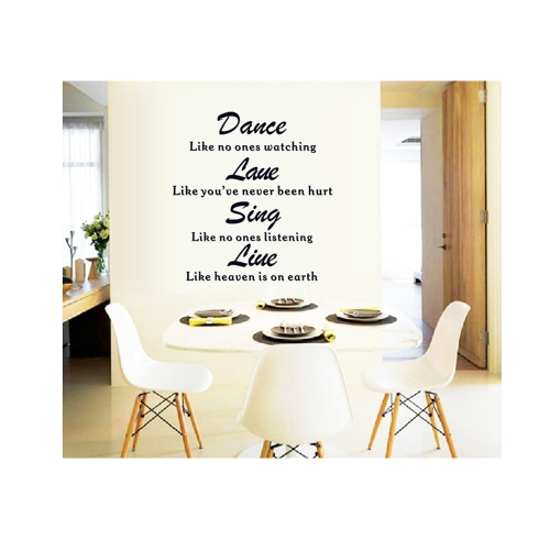 Home English Letter Removable Wall Stickers Art Decals Mural DIY Wallpaper for Room Decal 60 * 90cmHome &amp; Garden<br>Home English Letter Removable Wall Stickers Art Decals Mural DIY Wallpaper for Room Decal 60 * 90cm<br>