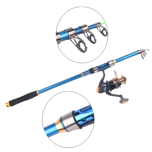 Portable 2.1M 6.89FT Telescopic Fishing Rod Tackle Travel Spinning Fishing PoleSports &amp; Outdoor<br>Portable 2.1M 6.89FT Telescopic Fishing Rod Tackle Travel Spinning Fishing Pole<br>