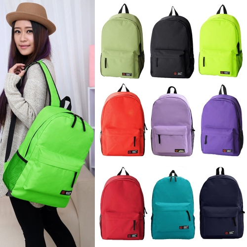Casual Women Backpack Candy Color Solid School Bag Traveling Shoulder Bag BlueApparel &amp; Jewelry<br>Casual Women Backpack Candy Color Solid School Bag Traveling Shoulder Bag Blue<br>