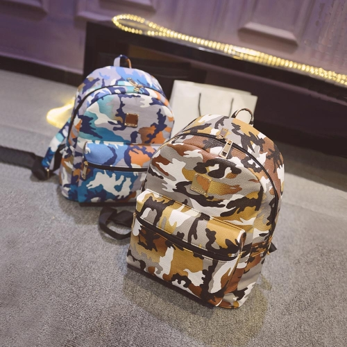 New Fashion Women Backpacks Camouflage Print Special Travel Shoulder Schoolbags YellowApparel &amp; Jewelry<br>New Fashion Women Backpacks Camouflage Print Special Travel Shoulder Schoolbags Yellow<br>