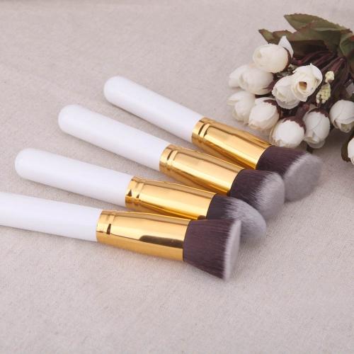 4Pcs Wood Makeup Brush Kit Professional Cosmetic Set Golden Ferrule WhiteHealth &amp; Beauty<br>4Pcs Wood Makeup Brush Kit Professional Cosmetic Set Golden Ferrule White<br>