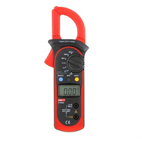 UNI-T UT202A Data Hold 600A DC/AC Voltage AC Current Resistance Digital Clamp Meters W/ MAX &amp; MIN ModeTest Equipment &amp; Tools<br>UNI-T UT202A Data Hold 600A DC/AC Voltage AC Current Resistance Digital Clamp Meters W/ MAX &amp; MIN Mode<br>