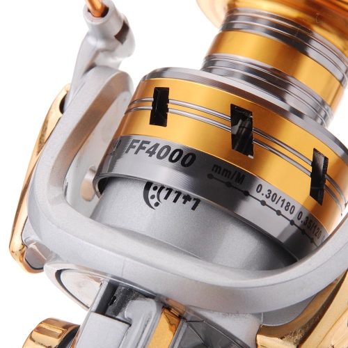 11BB Ball Bearings Left/Right Interchangeable Collapsible Handle Metal Fishing Spinning Reel 5.1:1 GoldSports &amp; Outdoor<br>11BB Ball Bearings Left/Right Interchangeable Collapsible Handle Metal Fishing Spinning Reel 5.1:1 Gold<br>