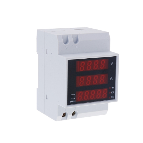 Multi-functional Digital Din Rail Current Voltage Power Ammeter Voltmeter Display MeterTest Equipment &amp; Tools<br>Multi-functional Digital Din Rail Current Voltage Power Ammeter Voltmeter Display Meter<br>