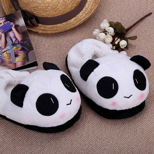 Indoor Novelty Slipper for Lovers Winter Warm Slippers Lovely Cartoon Panda Face Soft Plush Household Thermal Shoes 26cm / 10.24inHome &amp; Garden<br>Indoor Novelty Slipper for Lovers Winter Warm Slippers Lovely Cartoon Panda Face Soft Plush Household Thermal Shoes 26cm / 10.24in<br>