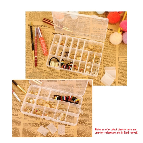 24 Slots Clear Plastic Tools Boxes Storage Box Jewelry Case Container Jewelry Packaging and DisplayHealth &amp; Beauty<br>24 Slots Clear Plastic Tools Boxes Storage Box Jewelry Case Container Jewelry Packaging and Display<br>