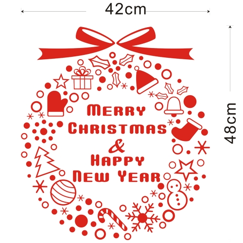 Christmas Decoration Removable Wall Stickers Art Decals Mural DIY Wallpaper for Room Decal 42 * 46cmHome &amp; Garden<br>Christmas Decoration Removable Wall Stickers Art Decals Mural DIY Wallpaper for Room Decal 42 * 46cm<br>