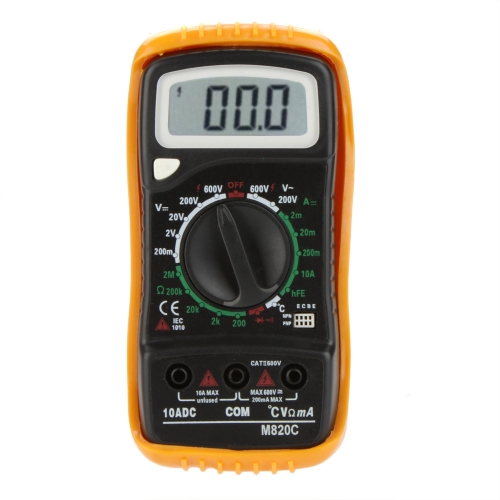 M820C Portable Digital Multimeter DMM Ammeter Voltmeter Ohmmeter &amp; hFE Tester w/Temperature TestTest Equipment &amp; Tools<br>M820C Portable Digital Multimeter DMM Ammeter Voltmeter Ohmmeter &amp; hFE Tester w/Temperature Test<br>