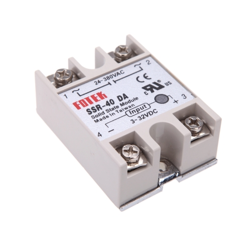 24V-380V 40A SSR-40 DA Solid State Relay Module for PID Temperature Controller 3-32V DC To ACTest Equipment &amp; Tools<br>24V-380V 40A SSR-40 DA Solid State Relay Module for PID Temperature Controller 3-32V DC To AC<br>