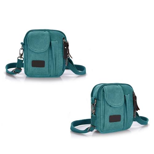 New Fashion Men Women Canvas Bag Zip Pockets Casual Unisex Messenger Shoulder Crossbody BagApparel &amp; Jewelry<br>New Fashion Men Women Canvas Bag Zip Pockets Casual Unisex Messenger Shoulder Crossbody Bag<br>