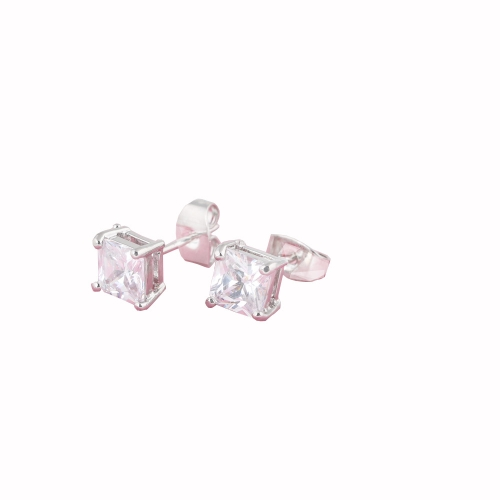 1Pair Clear Crystal Zircon18K Platinum Plated Square Ear Stud Earring Jewelry Gift for Women LadyApparel &amp; Jewelry<br>1Pair Clear Crystal Zircon18K Platinum Plated Square Ear Stud Earring Jewelry Gift for Women Lady<br>