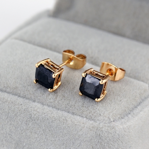 1Pair Black Crystal Zircon18K Platinum Plated Square Ear Stud Earring Jewelry Gift for Women LadyApparel &amp; Jewelry<br>1Pair Black Crystal Zircon18K Platinum Plated Square Ear Stud Earring Jewelry Gift for Women Lady<br>