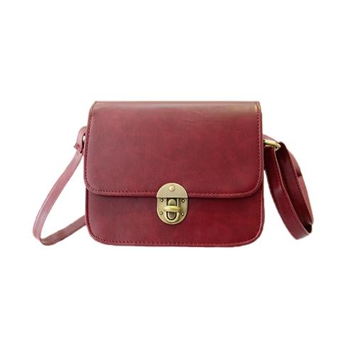 Nouveau Vintage femmes PU sac Twist Lock Rabat occasionnel épaule sac bandoulière