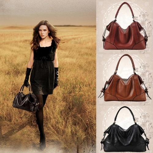 Fashion Women Handbag European Style PU Leather Large Capacity Messenger Bag Black/Brown/BurgundyApparel &amp; Jewelry<br>Fashion Women Handbag European Style PU Leather Large Capacity Messenger Bag Black/Brown/Burgundy<br>