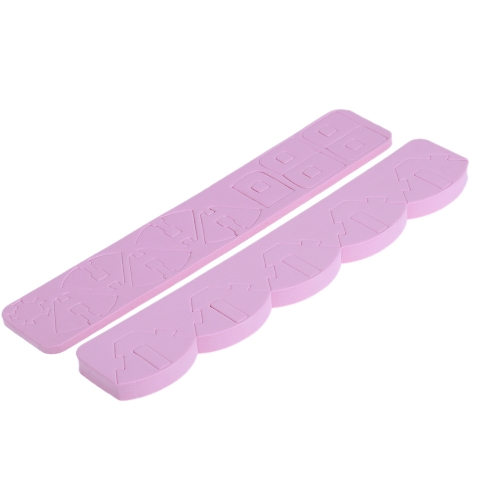 変換可能なピンク スポンジ ロータスのネイルアート チップ ディスプレイ スタンド ホルダー運用表爪アート ツールのヒント