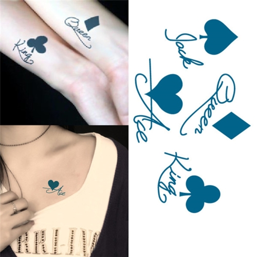 Tattoo Sticker Poker Pattern Waterproof Temporary Tattooing Paper Body ArtHealth &amp; Beauty<br>Tattoo Sticker Poker Pattern Waterproof Temporary Tattooing Paper Body Art<br>