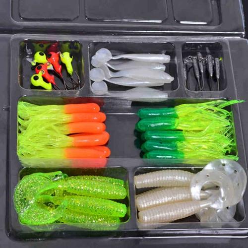 35Pcs Soft Plastic Worm Fishing Baits 10 Lead Jig Head Hooks Simulation Suite Set Lures TackleSports &amp; Outdoor<br>35Pcs Soft Plastic Worm Fishing Baits 10 Lead Jig Head Hooks Simulation Suite Set Lures Tackle<br>