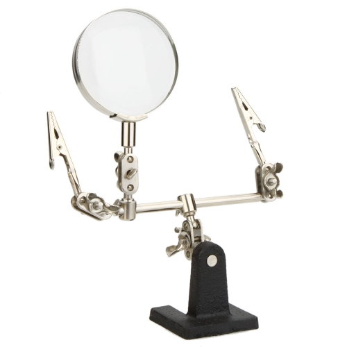 2.5X Helping Hand Free Glass Magnifier Magnifying 2 Alligator Clamps Adjustable Arms for Craft Model Precision Tools WatchTest Equipment &amp; Tools<br>2.5X Helping Hand Free Glass Magnifier Magnifying 2 Alligator Clamps Adjustable Arms for Craft Model Precision Tools Watch<br>